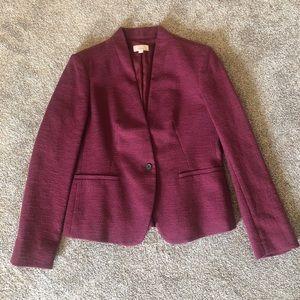 Loft burgundy blazer